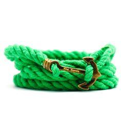 Green Captains Bracelet from King Kravate - The Neckwear Of Kings