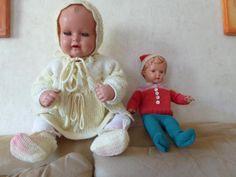 2 sehr gut erhaltene Schildkröt Puppen aus den 50er Jahren T40 und T56 zusammen für 100€ zu verkaufen