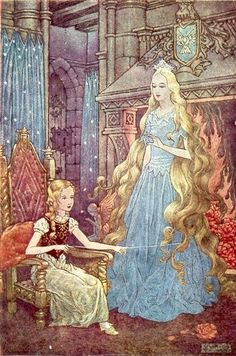 The Princess and the Goblin, written by George MacDonald, illustration by Charles Folkard Art And Illustration, Book Illustrations, George Macdonald, Grimm Fairy Tales, Fairytale Art, Wow Art, Goblin, Childrens Books, Fantasy Art