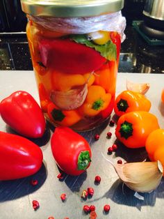 Conserve de Baby Poivrons. Stuffed Peppers, Vegetables, Food, Canning, Homemade, Veggies, Vegetable Recipes, Meals, Stuffed Pepper