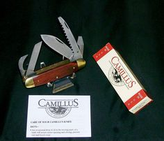 Camillus C5 Knife Rosewood Campers Utility Series 1989 W/Packaging & Papers Rare @ ditwtexas.webstoreplace.com