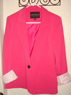 My new obsession: hot pink blazer from Forever21+ I'm glad I bought it because sold out in hours!