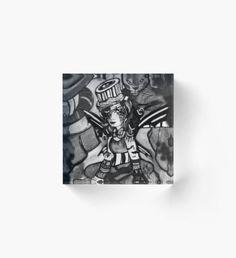 Circus of Shadows - Black & White Acrylic Block Autumn Nature, Autumn Art, Autumn Leaves, Autumn Witch, Autumn Illustration, Green Palette, Horror House, Halloween Celebration, Witch Art