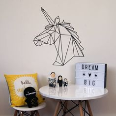 Geometric Unicorn Wall Sticker