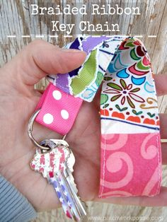 Braided Ribbon Key Chain | easy sewing project | #tutorial #freepattern