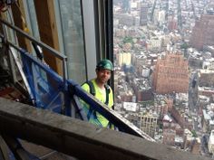 My friend Lenny Bednarz belongs to the Local 580 NYC Ironworkers Union. This is his view every day as he works on building the new Freedom Tower.