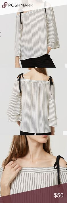 Selling this LOFT Striped Blouse on Poshmark! My username is: lshooper9137. #shopmycloset #poshmark #fashion #shopping #style #forsale #LOFT #Tops
