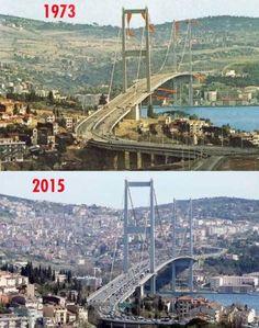 Bu 2 fotoğraf İstanbul Boğazı'nın nasıl talan edildiğini anlatmaktadır
