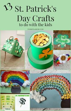 Have fun with your family this St. Patrick's Day with these great St Patricks Day crafts for kids!