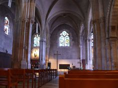 Saint-Germain-de-Charonne - in the 20th arrondissement of Paris you will find this 12th century Romanesque church with Gothic features