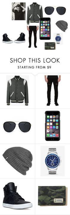 """A  Day Out"" by arianna-mitchell-1 on Polyvore featuring Yves Saint Laurent, Rustic Dime, County Of Milan, Outdoor Research, Express, Supra, Hollister Co., men's fashion and menswear"