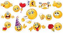 Nuevos emoticonos para Facebook.  Enviar o compartir emoticonos en los mensajes para crear caras sonrientes grandes!