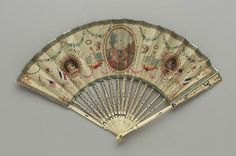 Commemorative fan for Lafayette's visit to America, French, for American market ca. 1824