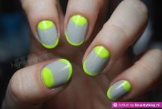 Inspiration for spring  nail art Neongele