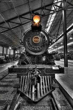 historic black locomotive - front photography