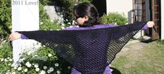 Lovely Light: Basic Crochet Triangle Lace Shawl/Hip Wrap