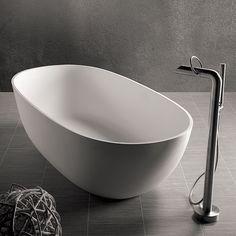 Dado Dubai Freestanding Bath with Aqualine Freestanding Bath Mixer Bath Taps, Bathroom Taps, Bathtub Shower, Modern Bathroom, Bathroom Inspo, Bidet Wc, Bathtubs For Sale, Toronto, Stand Alone Tub