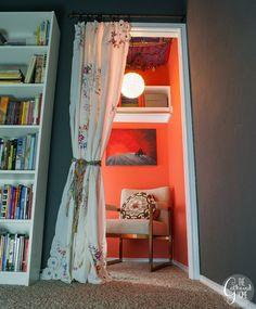 Vintage Boho Reading Nook Scarf Ceiling