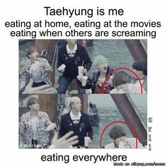 [BTS meme] V | Eat is important. | Just meme, laugh and don't take it seriously.