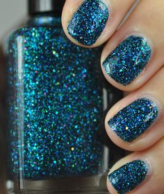 Sea Creature Blue and Green Glitter Nail Polish 15ml (.5oz)