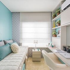 The War Against Trendy Bedroom Drape Style Concepts - lowesbyte Small Bedroom Designs, Small Room Bedroom, Trendy Bedroom, Small Rooms, Bedroom Decor, Home Office Layouts, Home Office Design, Home Interior Design, Stylish Home Decor
