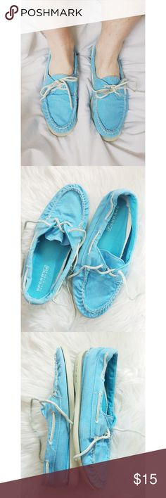 Sperry Top-Sider Boat Shoes Sperry Top-Sider Boat Shoes.  Denim aqua blue.  Good condition.  Women's size 7M.  No box. Sperry Top-Sider Shoes Flats & Loafers