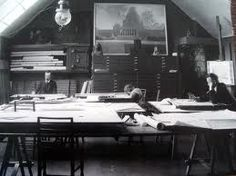 Hvitträsk Kirkkonummi, Finland   Architect's studio in full swing.