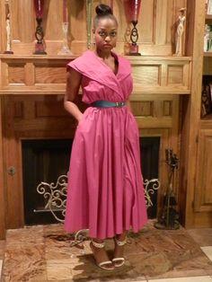 1960s Vintage Pink maxi Dress    AnnDavisDesign on Etsy.com