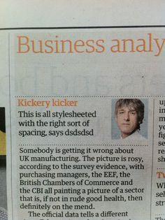 kickery kicker in the Guardian