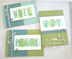 Layered Letters for Christmas (Marelle Taylor Stampin' Up! Demonstrator Sydney…