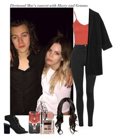 """""""Fleetwood Mac's concert with Harry and Gemma"""" by aasne-midtbo ❤ liked on Polyvore featuring Topshop, Charlotte Tilbury and County Of Milan"""