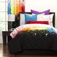 Crayola Cosmic Burst 3-piece Comforter Set   Overstock.com Shopping - The Best Deals on Kids' Comforter Sets