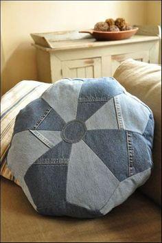 Kissenhüllen Jeans kissenbezüge klamotten rund bodenkissen