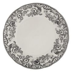 Buy Spode Rural Delamere for John Lewis Dessert Plate, Grey from our Plates range at John Lewis & Partners. Free Delivery on orders over British Flowers, Christmas Tablescapes, Vintage Dishes, Dinner Sets, Modern Country, China Dinnerware, John Lewis, Dinner Plates, Decorative Plates
