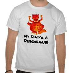 Dinosaur Dad T-Shirt by Paul Stickland for DinosaurStore #fathersday #dinosaurs