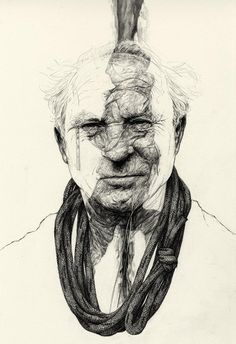 "Yvon Chouinard Portrait by Rupert Smissen. Unusual in that the ""drip"" oozes over the face and into the rope. Wonder what this story tells. Amazing Drawings, Beautiful Drawings, Art Drawings, Life Drawing, Figure Drawing, Portrait Art, Portraits, A Level Art, Portrait Illustration"