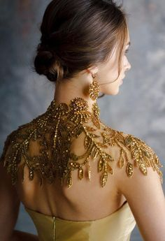 Collar necklace/Gold collar necklace/Statement necklace/Shoulder necklace/Bridal shoulder necklace/B Wedding Dress Collar, Collar Dress, Wedding Dresses, Lace Wedding, Shoulder Necklace, Shoulder Jewelry, Gold Collar, Lace Collar, Crochet Collar