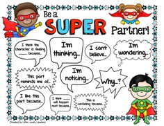 FREEBIE! Super partner work! Help guide student discussion with these sentence starters!