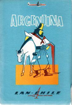 LAN Chile. Línea Aérea Nacional. Argentina. Publicidad en revista en Viaje N°323 de septiembre de 1960.