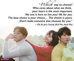 Kill Me, Heal Me quotes: Ji Sung as Cha Do-Hyun, Hwang JungEum as Oh Ri-Jin (ep2)