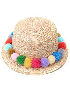 Chapeau de paille avec pompons -French SheIn(Sheinside)