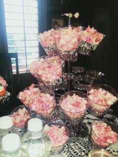 Pink popcorn..Pink baby shower awesome ideas for nene pink girl baby shower