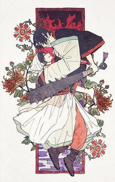 Hakutaku et Hoozuki I Love Anime, Me Me Me Anime, Gekkan Shoujo, Asian Love, Skullgirls, Japanese Cartoon, Mononoke, Gay Art, Manga Games