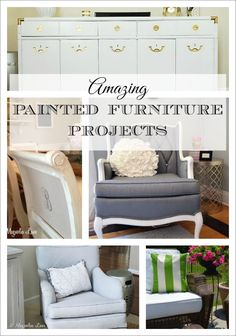 A round-up of a variety of ways to paint furniture--you won't believe some of the things you can paint and how easy it is!