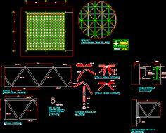 Detail space mesh (dwgAutocad drawing)