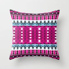 Mix #443 Throw Pillow by Ornaart - $20.00