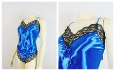 Vintage Teddy Lingerie Undercover by Teddy Lingerie, Vintage Lingerie, Blue Bodies, Plus Size Vintage, Color Shades, Undercover, Lace Trim, Royals, Royal Blue