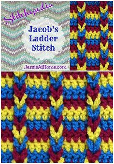 jacobs ladder crochet stitch @jessie_athome - #howto #Crochet: 45+ Crochet Tutorials for Basics, Advanced Stitches, Motifs and Projects