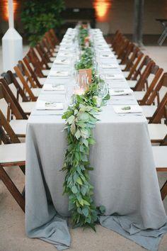 Gray Wedding Linens | photography by http://dianamarieblog.com/
