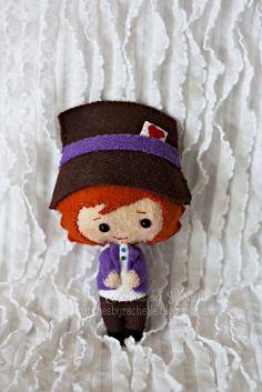 The Mad Hatter Felt Doll Handmade Miniature by StitchesByRachelle, $15.00
